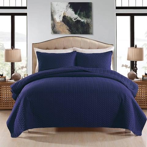 Classic Coverlet Bedspread Lightweight Bedding Set Matching Shams