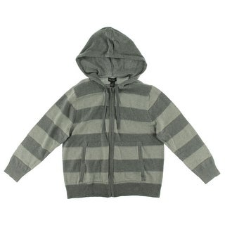Alex Stevens Mens Striped Hoodie Cardigan Sweater