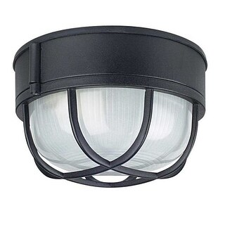 "Sunset Lighting F7986 1 Light Outdoor Cast Aluminum 8"" Wide Flush Mount Ceiling Fixture"