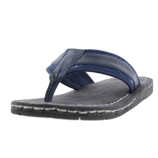GBX Mens Stryde Flip-Flops Leather Thong - 7 medium (d)