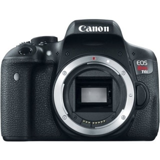 Canon EOS Rebel T6i 24.2 Megapixel Digital SLR Camera Body Only - (Refurbished)