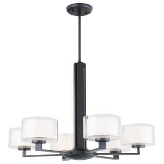 DVI Lighting DVP2127 Princeton 6 Light 1 Tier Chandelier