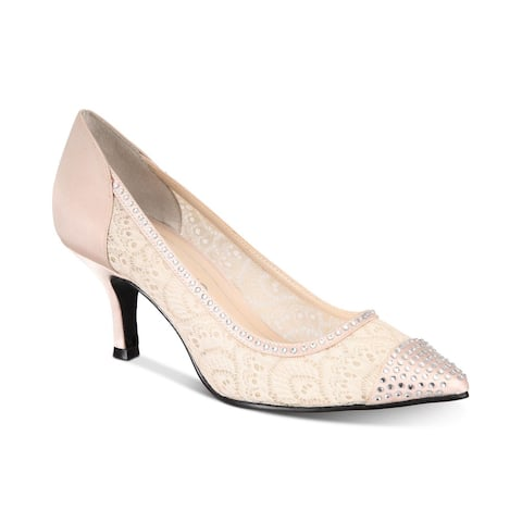Caparros Womens Satin Fabric Pointed Toe D-orsay Pumps
