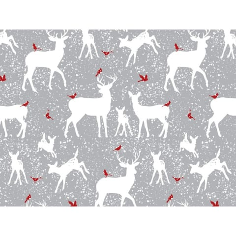 "Woodland Frost Reindeer 24""x85' Roll Gift Wrap"