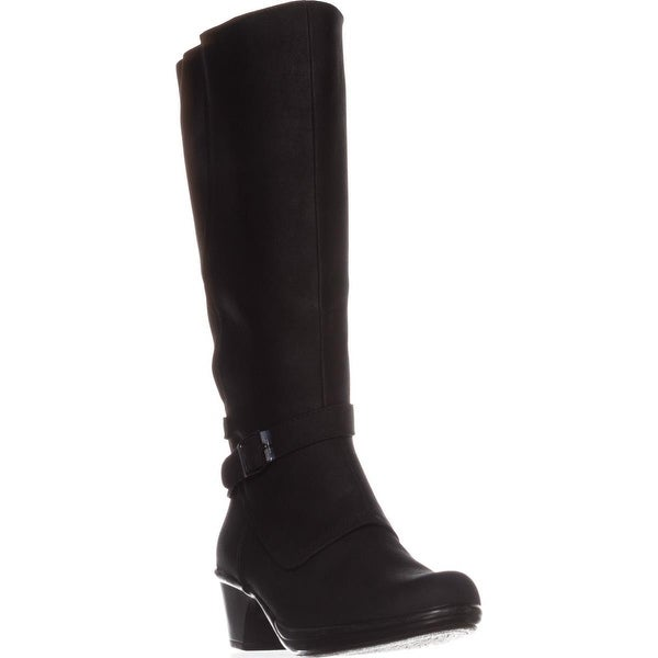 Easy Street Jan Wide Calf Knee-High Boots, Black