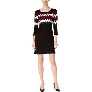 Sandra Darren Womens Petites Sweaterdress Knit Pattern