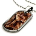 Tungsten Snake Anaconda Print Dog Tag ID Pendant - 24 inches - Thumbnail 0