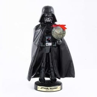 "Kurt Adler SW6152L Star Wars Darth Vader with Death Star Nutcracker, 10"""