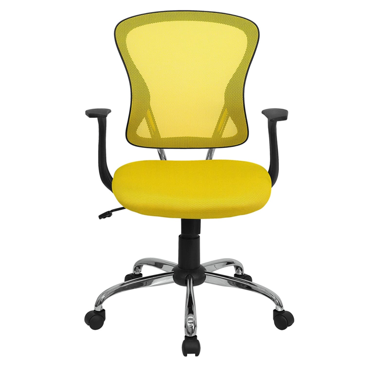 Shop Brielle Mid Back Yellow Breathable Mesh Swivel Home Office Task Chair W Arms Overstock 16627852