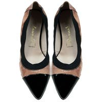 Bailarinas DUKE EER Nude/Black Patent Leather Ballerina Flat