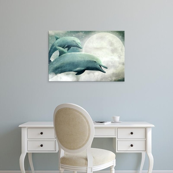 Easy Art Prints Terry Fan's 'Sky Dolphins' Premium Canvas Art