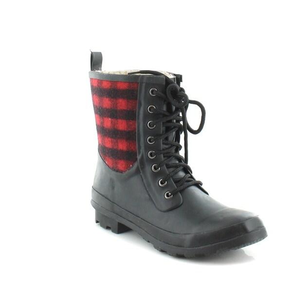 Chooka Clara Plaid Women's Boots Red - 7