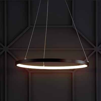 Bradley Round Integrated LED Metal Chandelier by JONATHAN Y
