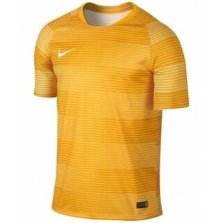 Nike NEW Yellow Mens Size Medium M Striped Dri-FIT Varsity T-Shirt