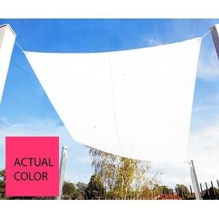 9.75' Bright Pink Square Outdoor Patio Sun Shade Tarp