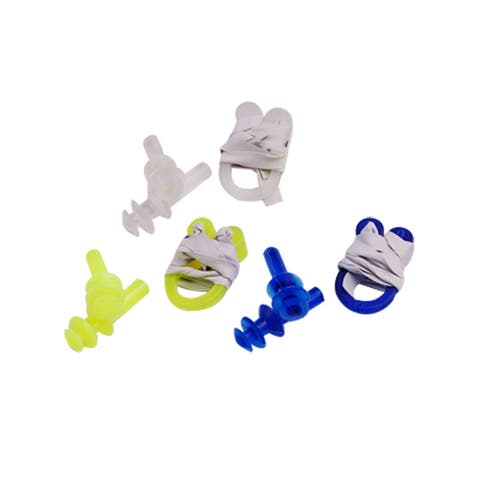 Unique Bargains 12 Pcs Swim Gear Combo Set Nose Clip + Ear Plugs For Leisure Swimming