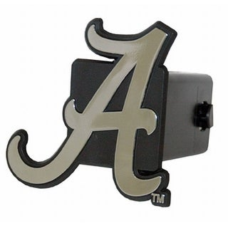 "Alabama Crimson Tide Hitch Cover Class III 2"" Chrome Film & Black"