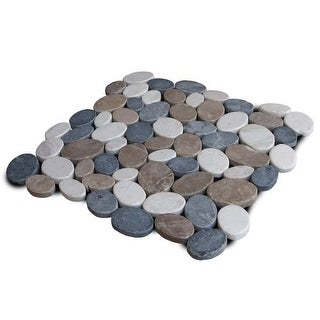 Miseno MT-C3RTWG Wheel Stone Mosaic Natural Stone Tile (9.68 SF / Carton)