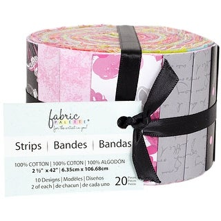 "Fabric Palette Jellies 2.5""X42"" 20/Pkg-Summertime In Paris"