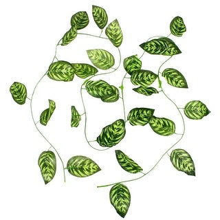Green 6.6Ft Long Artificial Grape Leaves for Home Wall Decor Ornament
