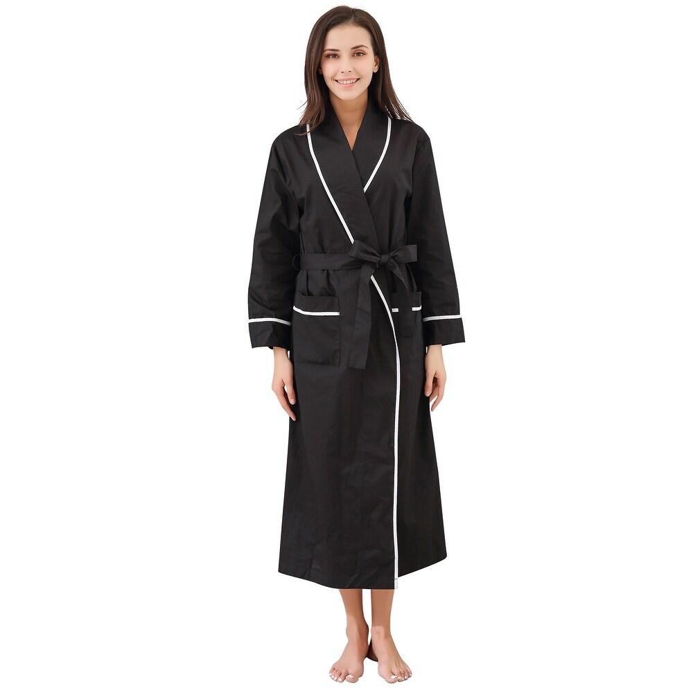 Richie House Womens Cotton Sleepwear Pajama Bathrobe
