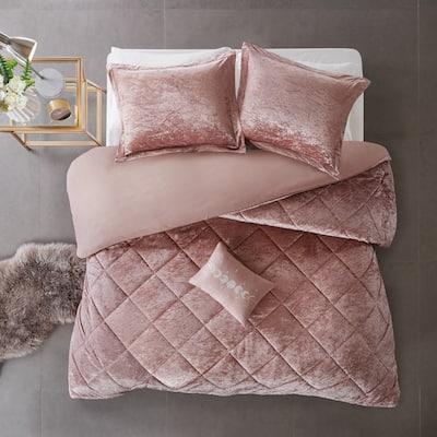 Isabel Velvet Duvet Cover Set by Intelligent Design