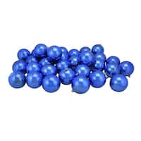 "32ct Lavish Blue Shatterproof Shiny Christmas Ball Ornaments 3.25"" (80mm)"