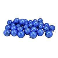 "32ct Lavish Blue Shatterproof Shiny Christmas Ball Ornaments 3.25"" (80mm)"