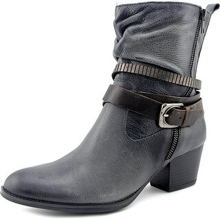Earth Spruce Women Round Toe Leather Ankle Boot
