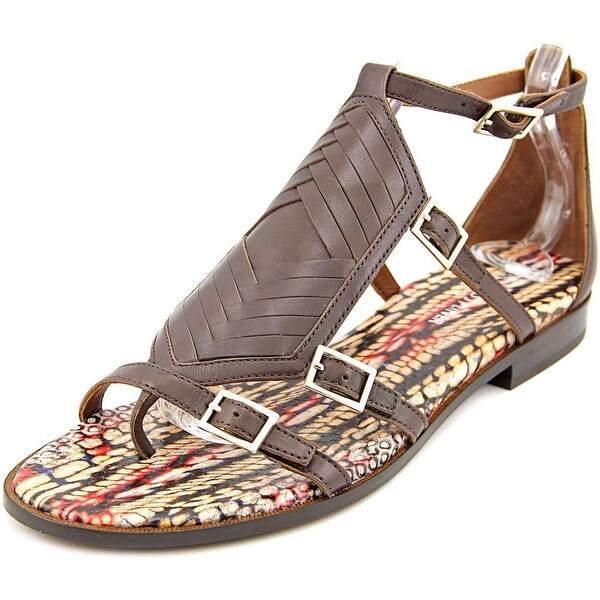 4863a382b7b0 Shop Donald J Pliner Leza Women Open Toe Leather Brown Gladiator ...