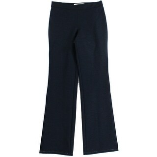 Studio M NEW Blue Women's Size XS Elastic-Waist Stretch Solid Pants
