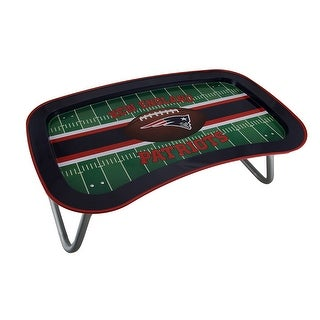 NFL New England Patriots Multi Function Metal Lap Tray W Folding Legs 22 Inch Multicolored 8 X 22 X 13 Inches