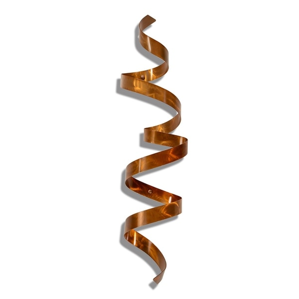 Statements2000 Copper Abstract Twist Metal Wall Art Sculpture Accent by Jon Allen - Copper Wall Twist