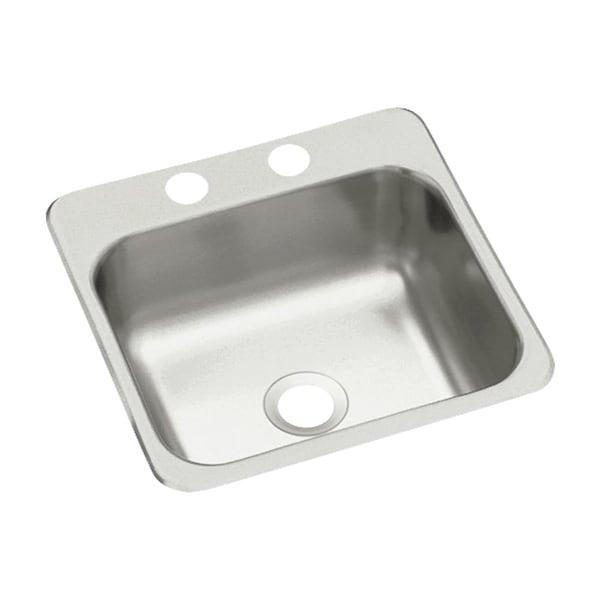 "Sterling B153-2 15"" Single Basin Drop In Stainless Steel Bar Sink with SilentShield®"