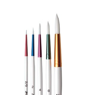 Sax True Flow Spectrum Watercolor Paint Brushes, Round, Assorted Size, Set of 5
