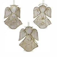 Club Pack of 36 Gold Colored Angel Decorative Christmas Hanging Ornaments
