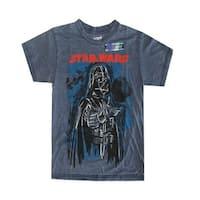 Star Wars Big Boys Grey Darth Vader Print Short Sleeve T-Shirt 8-16