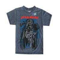 Star Wars Little Boys Grey Darth Vader Print Short Sleeve T-Shirt
