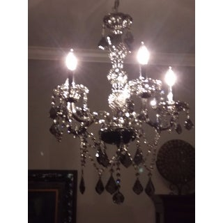 Venetian Italian Style 5-light Smoke Crystal 21 x 26-inch Chandelier Medium