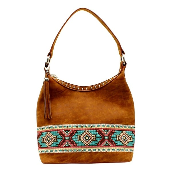 "Blazin Roxx Western Handbag Womens Shania Hobo Zip Aztec Tan N7587908 - 11 1/4"" x 5 1/4"" x 10"""