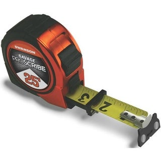 Swanson SVPS25M1 Savage Magnetic ProScribe Tape Measure, 25'