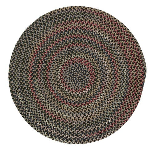 Colonial Mills Wayland Rustic Farmhouse Braided Multicolor Round Rug
