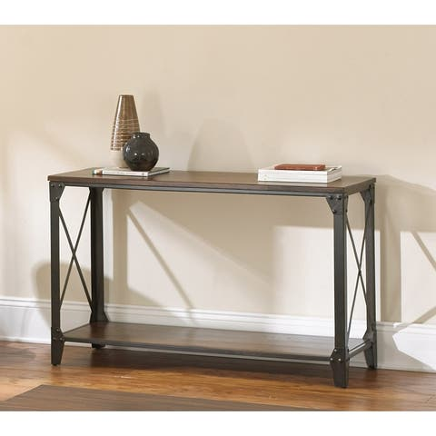 Carbon Loft Fischer Solid Wood and Iron Rustic Sofa Table