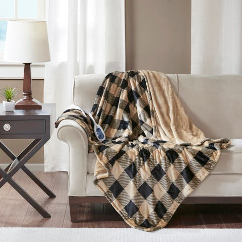 True North by Sleep Philosophy Lucas Oversized Printed Heated Plush Throw
