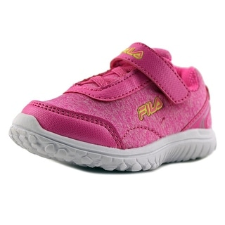Fila Lite Spring Heather Strap Toddler Round Toe Synthetic Pink Sneakers