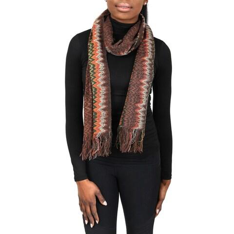 Missoni SC31WMU5171 0004 Brown/Orange Wool Blend Womens Scarf - 17 - 70