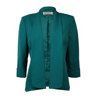 Kasper Women's Solid Half Sleeve Open Front Blazer|https://ak1.ostkcdn.com/images/products/is/images/direct/99339f3721bf02d73f749695db40c02deae821c7/Kasper-Women%27s-Solid-Half-Sleeve-Open-Front-Blazer.jpg?_ostk_perf_=percv&impolicy=medium