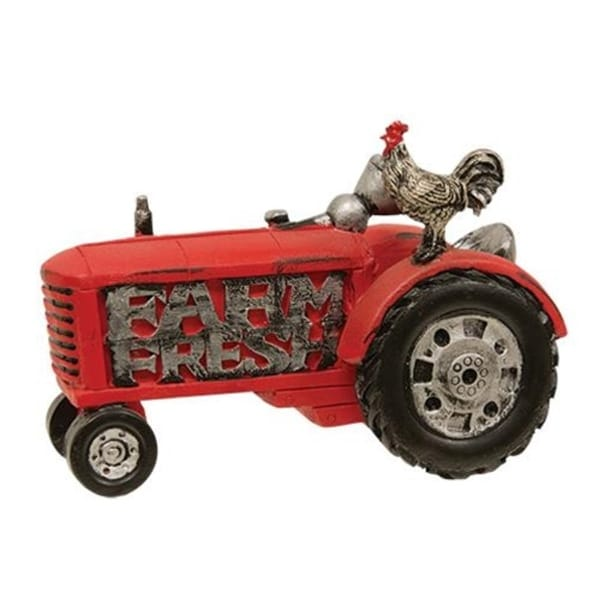 11L X 7H X 6W Tractor Alarm Clock W/ Rooster Sound Collectible FREE SHIPPING