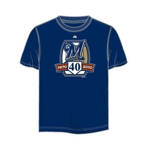 Milwaukee Brewers 40th Anniversary Factory Seconds Size Large
