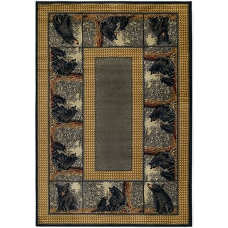 Link to Westfield Home Ridgeland Bear Cubs Area Rug Similar Items in Rustic Rugs